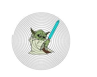 Yoda SVG, DXF,PNG