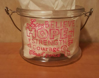 Breast Cancer Awareness Candle Holder