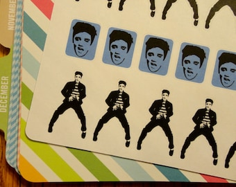 Elvis Presley Stickers for Scrapbook, Planners, or Stationary