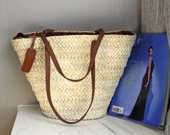 White straw handbag/Woman's Purse/gift for moms/Tote bag/shopping bag/Shoulder bag/wedding gift