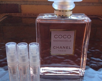 CHANEL COCO MADEMOISELLE Eau De Parfum - 1.7 ml X 3 (5.1 ml total) Sample Spray Atomizers - 100% Authentic plus Bonus!!!!