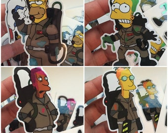 The Simpsons x Ghostbusters Brushed Alloy Stickers