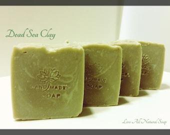 Fragrance Free Soap, Unscented Soap, Natural Soap, Dead Sea Clay Soap, Vegan soap, Shaving soap, Clay Soap, Facial Soap, Handmade Soap