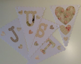 Just Married Bunting - pastel Style C