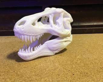 Custom 3D Printed T-Rex Skull, T-Rex Skull, T-Rex, Tyrannosaurus Rex Skull, Tyrannosaurus Rex, Skull, 3D Printed, Custom, Dinosaur,