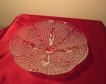 "Crystal Candy Dish Footed 6 1/2"" SALE"