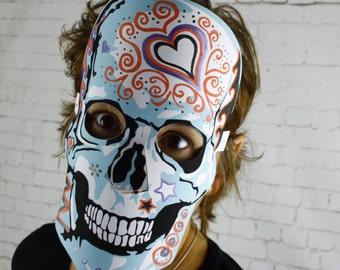 Skull Mask download, Sugar Skull, Halloween masks, Día de Muertos,  2 colour in masks, Adult and child activity, Skull masks PDF download