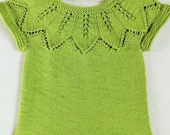 Knit vest Girl vest Knitted vest Merino wool vest 18-24months