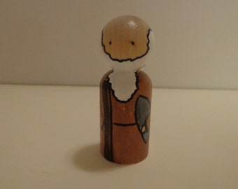 Moses character of the Bible Peg Doll