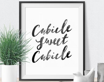 Cubicle Decor Cubicle Sweet Cubicle Office Wall Decor Office Wall Art Cubicle Wall Art Cubicle Print Office Quote Office Art Office Decor
