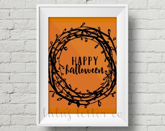 Happy Halloween printable