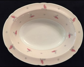 "FREE SHIPPING-Very Rare-Fabulous-Pink-Mid Century-Shelley-Pattern Lyric-Made England-Fine Bone China-9 1/2""-Serving Vegetable Dish"
