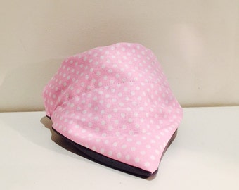 Pink spotty collar band