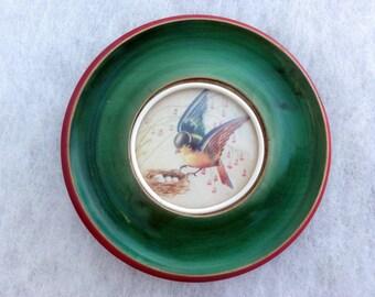 024/bis Round picture of bird nest 30s