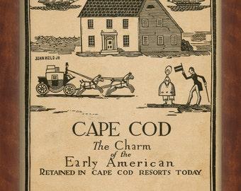 Cape Cod Travel Poster 1927