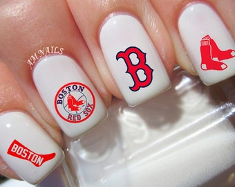 Boston Red Sox Nail Decals