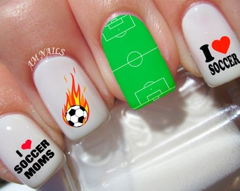 46 Soccer Nail Decals
