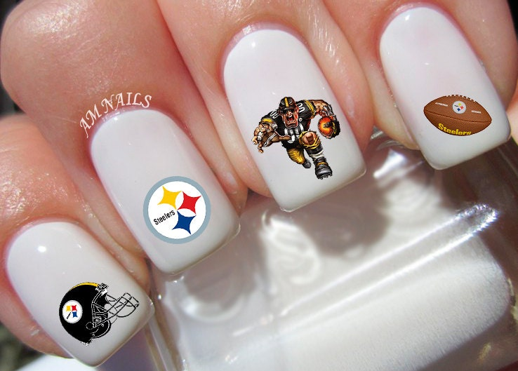 Steelers Acrylic Nails Pittsburgh Steelers Nail
