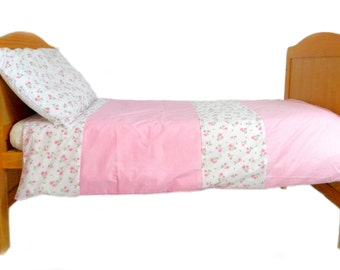 Girls toddler roses duvet set