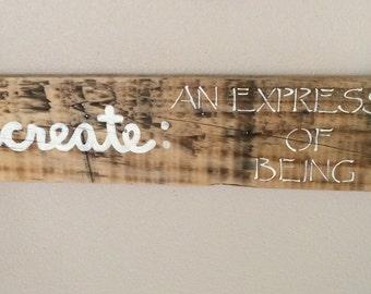 "Wall sign ""Create"""