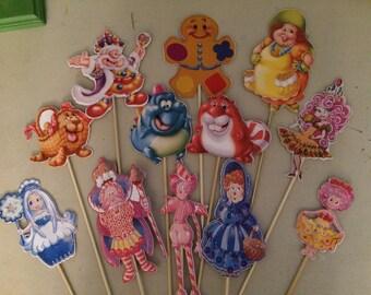 Candyland Centerpiece Sticks