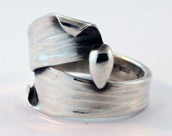 Sterling & Fine Silver Hand Forged Ring - Size 8