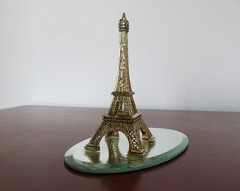 original EIFFEL Tower on beveled mirror souvenir of PARIS France 1950 1960 50