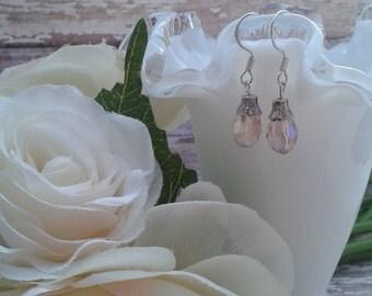 Bridal crystal earrings, bridal accessories