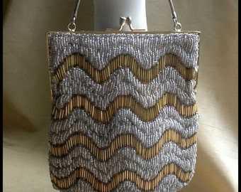 1920's Beaded Evening Purse...Vintage Art Deco Glamour!