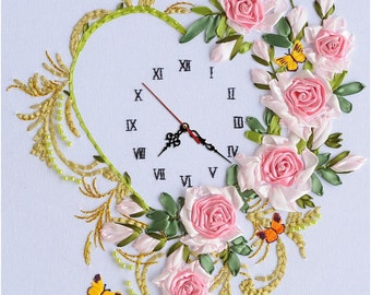 5D Ribbon Hand Embroidery RB4-clock
