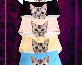 Kitty Cat Panties - 5 Colors - One Size - (Please Read ENTIRE listing)