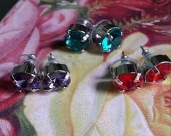 Swarovski Earrings, 11mm Swarovski crystal earrings