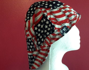 American Flag Reversible Welder Cap