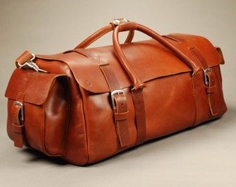 Redoker Rover Traveller - Genuine leather travel bag / Duffle bag / Duffel bag / Weekender bag