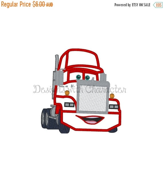 50% OFF Red truck applique machine by DesignsWithCharacter ...