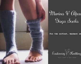 merino and alpaca yarn yoga sock/ legwarmer knitting kit