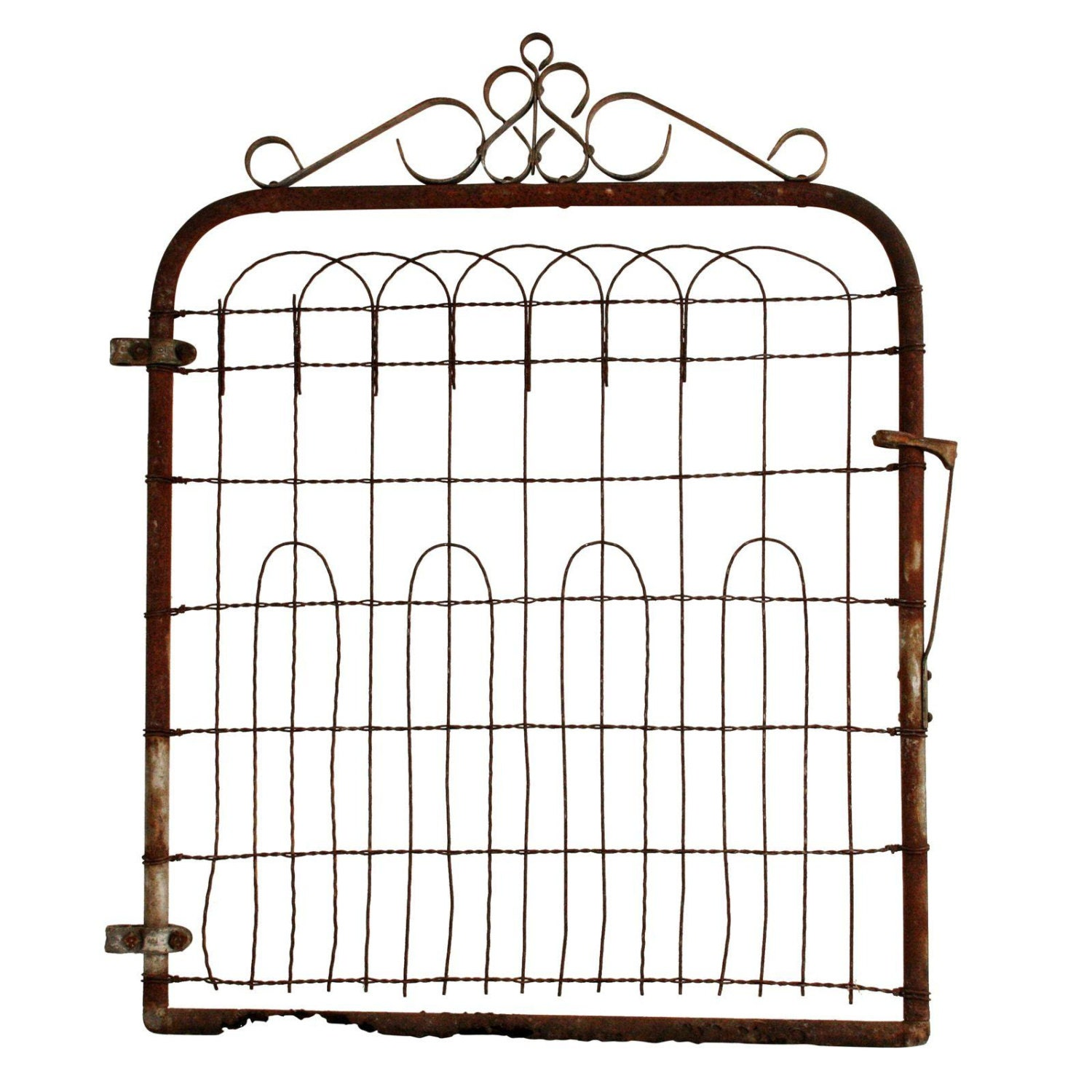 vintage metal gate fence antique garden by saveamericanhistory