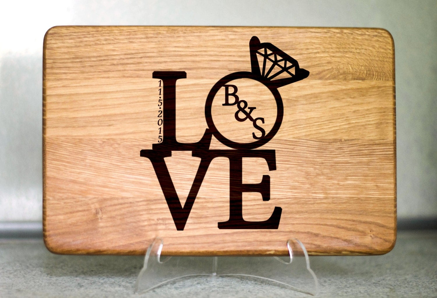 Unique Wedding Gifts For Older Couples: Wedding Gift For Couple Custom Cutting Board By
