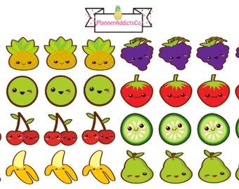 Kawaii Fruit Planner Stickers!