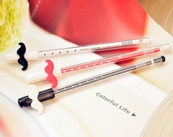Mustache gel ink pen