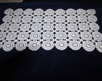 White lace runner