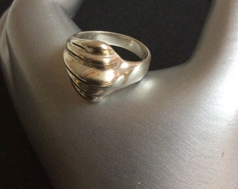 Sterling Silver Chunky Ring Size 7