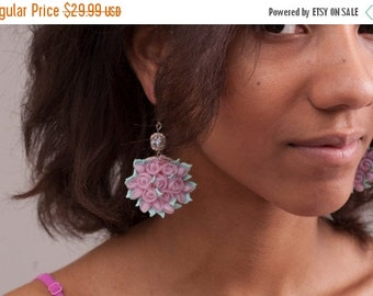 ON SALE free shipping Rose earrings/Free Shipping!