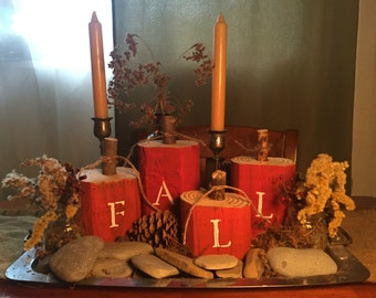 rustic fall pumkins