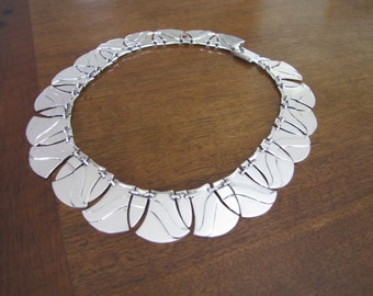Handmade Mexican Sterling Silver Art Deco Necklace