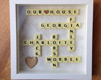 Scrabble Art Personalised Gift/Present Idea