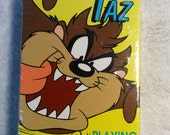Vintage New Taz Playing Cards The Tasmanian Devil Looney Tunes Cartoons NIP