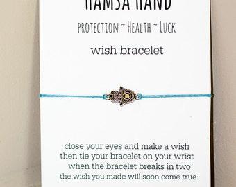 Hamsa Hand Wish Bracelet