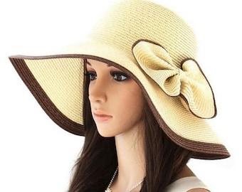 Fashion Chic Womens Ladies Summer Beach Sun Hat Straw Cap