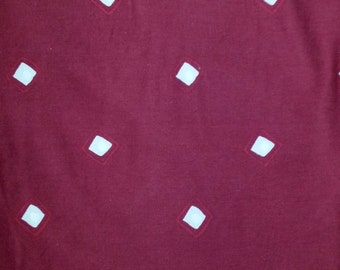 Scandinavia Swedish Vintage vine red quilt fabric in cotton 1970s.